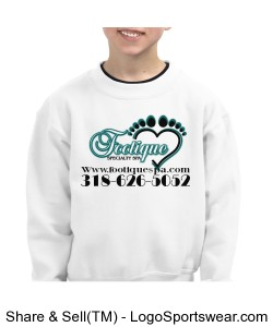 7.75 ounce Youth Crew Neck Sweatshirt Design Zoom